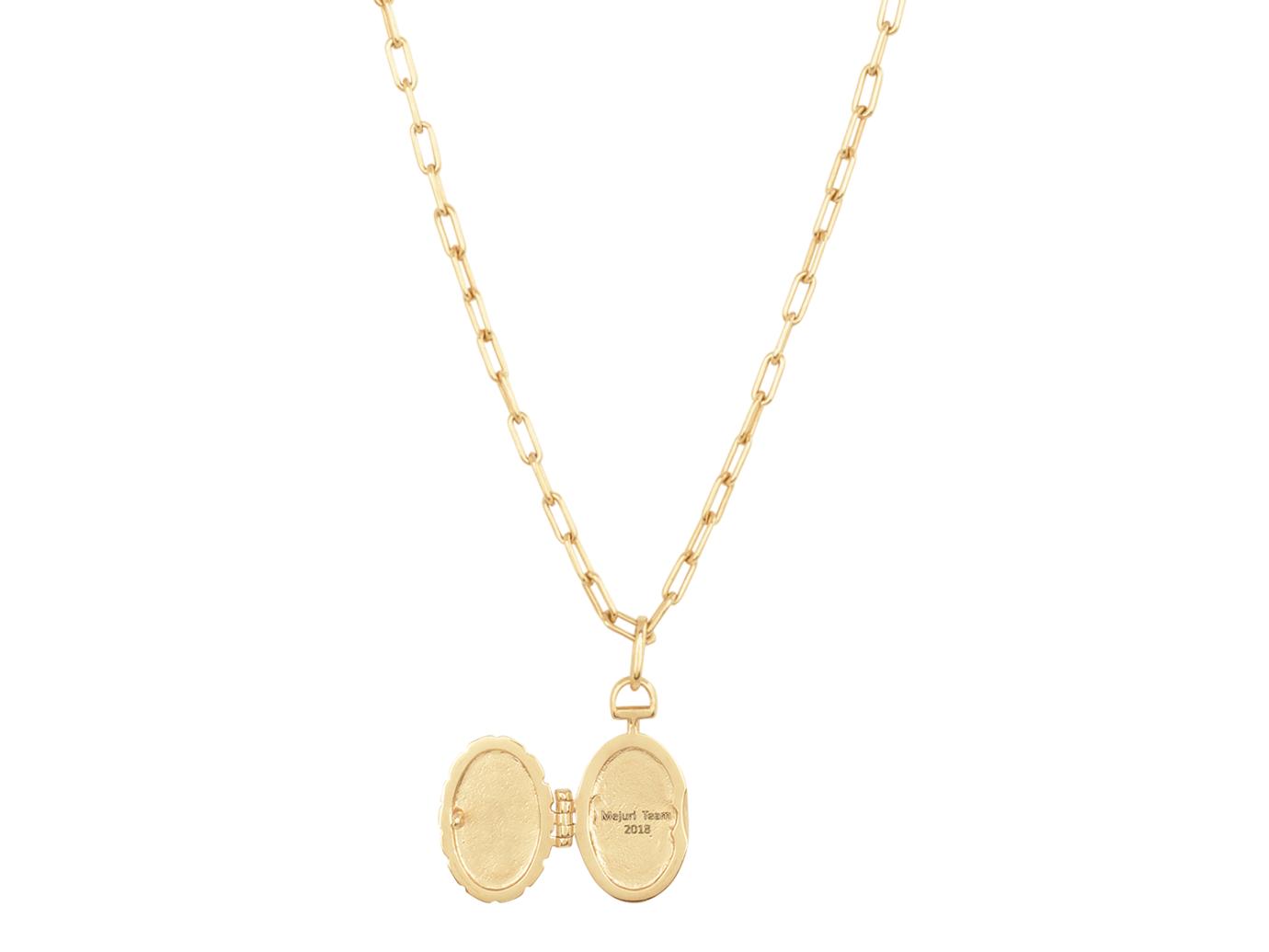 Mejuri Engravable Locket Necklace
