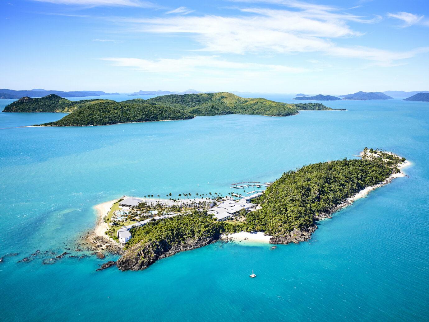 Ariel view of Daydream Island