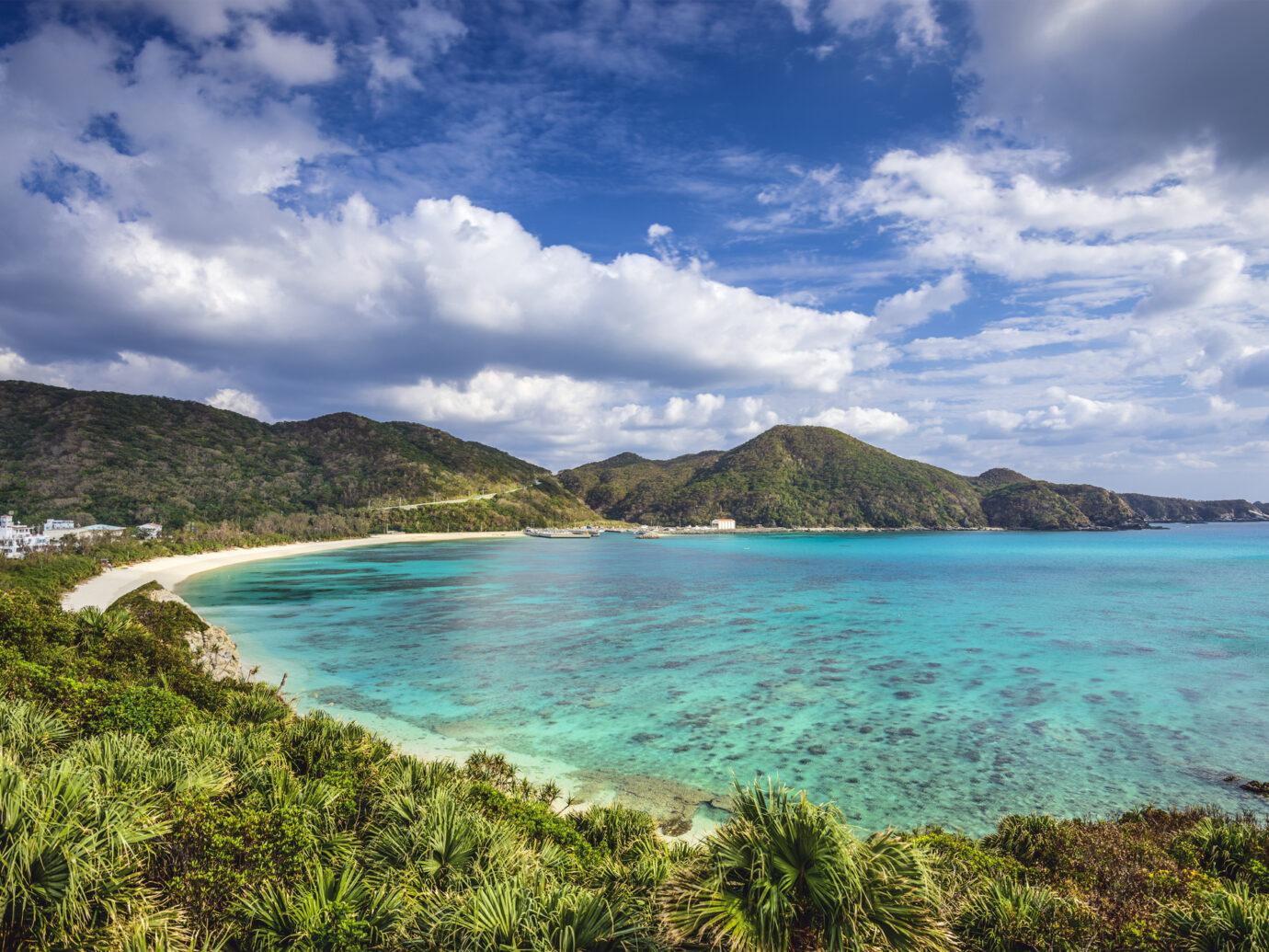 Aharen Beach on Tokashiki Island in Okinawa, Japan.