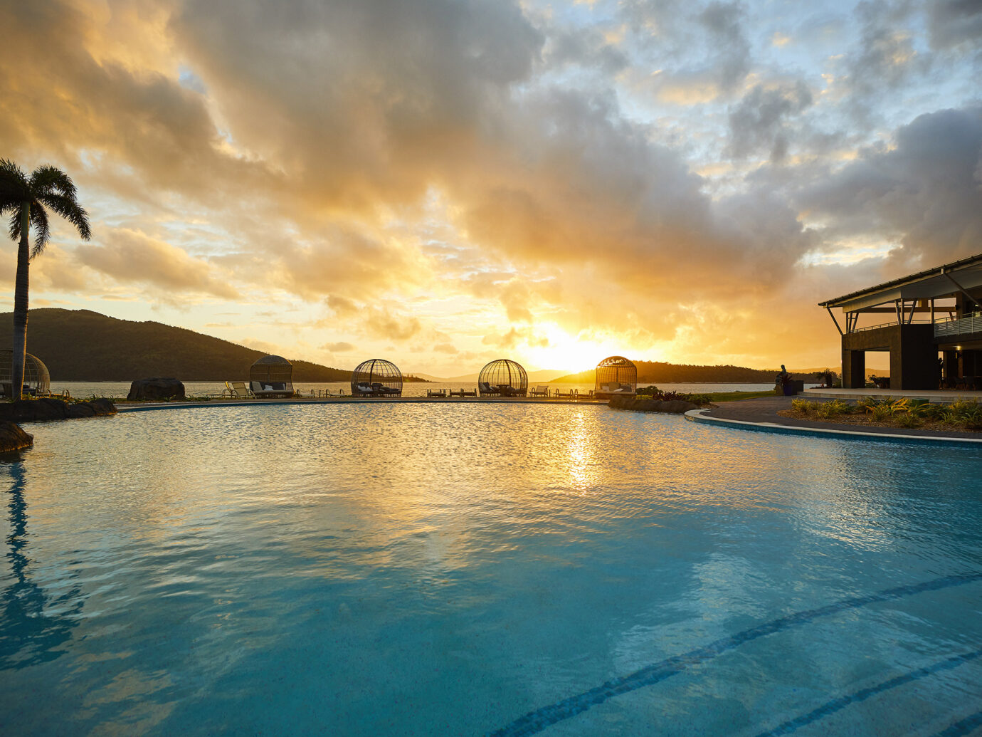 Pool at sunset at Daydream Island