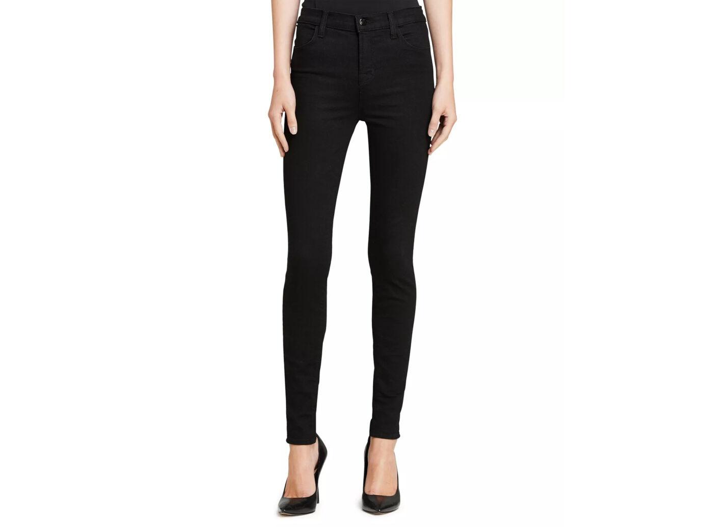 J Brand Maria High-Rise Skinny In Eco Seriously Black