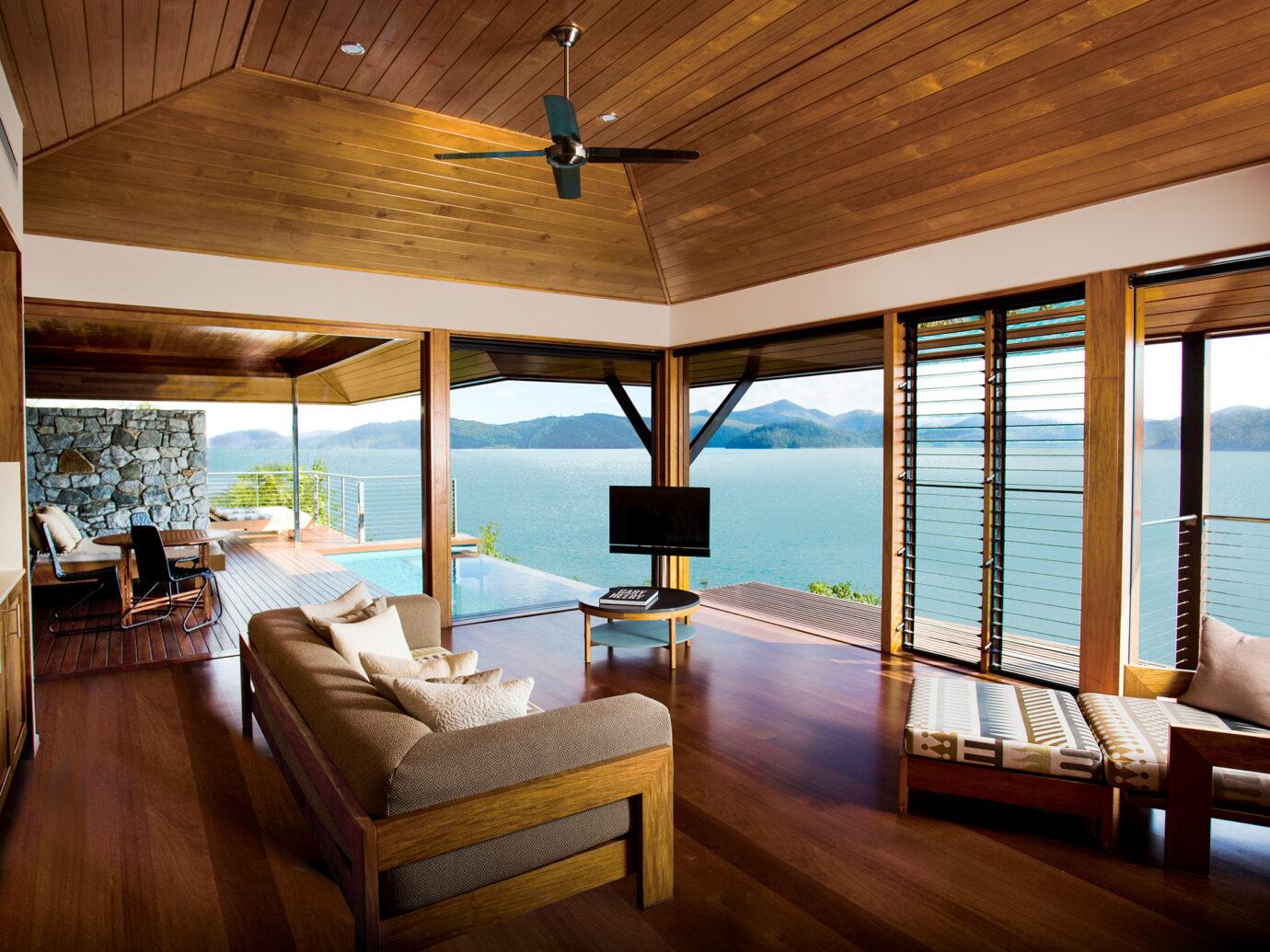 Lounge at the Qualia beach House