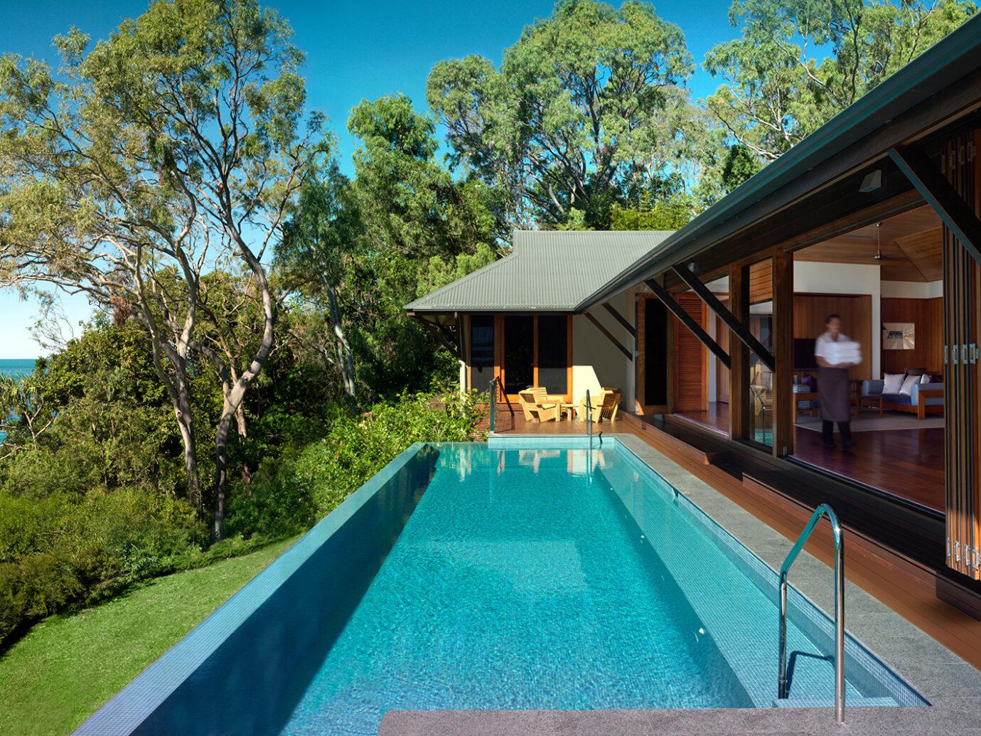 Infinity pool at Qualia beach House