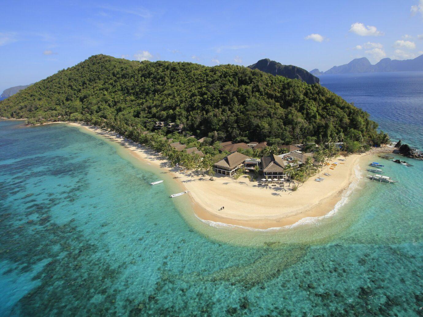 Aerial view of Pangulasian Island, Philippines