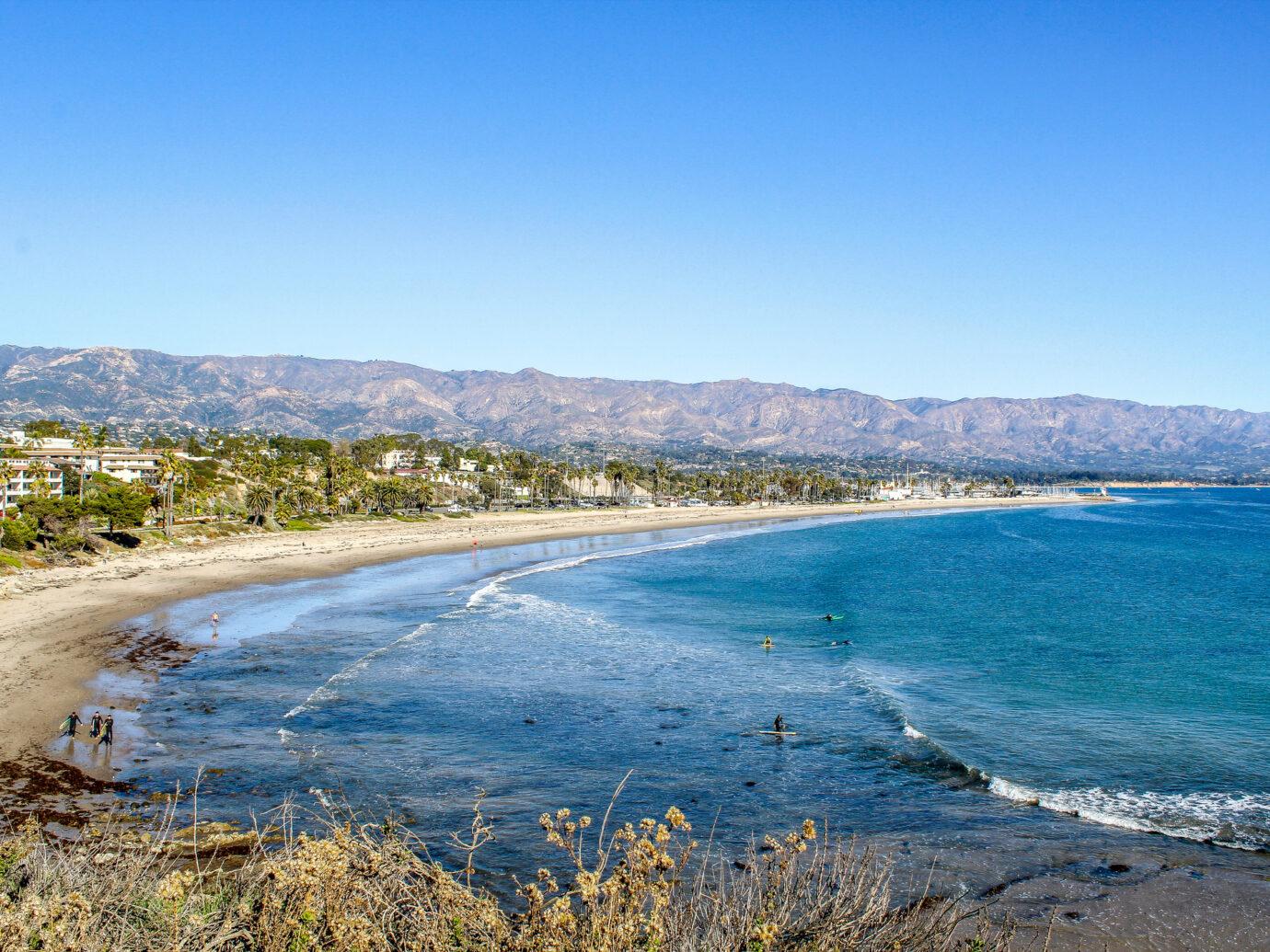 Beach in Montecito, California