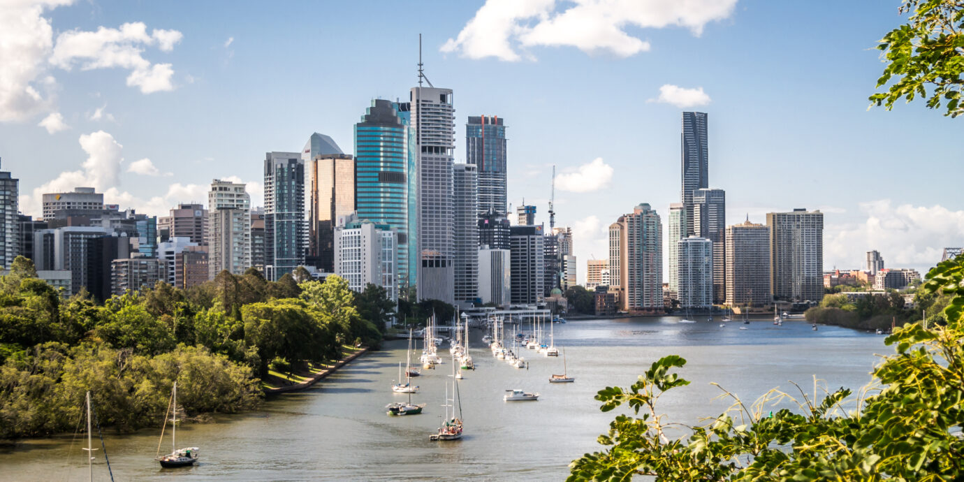 View of skyscrapers in Brisbane