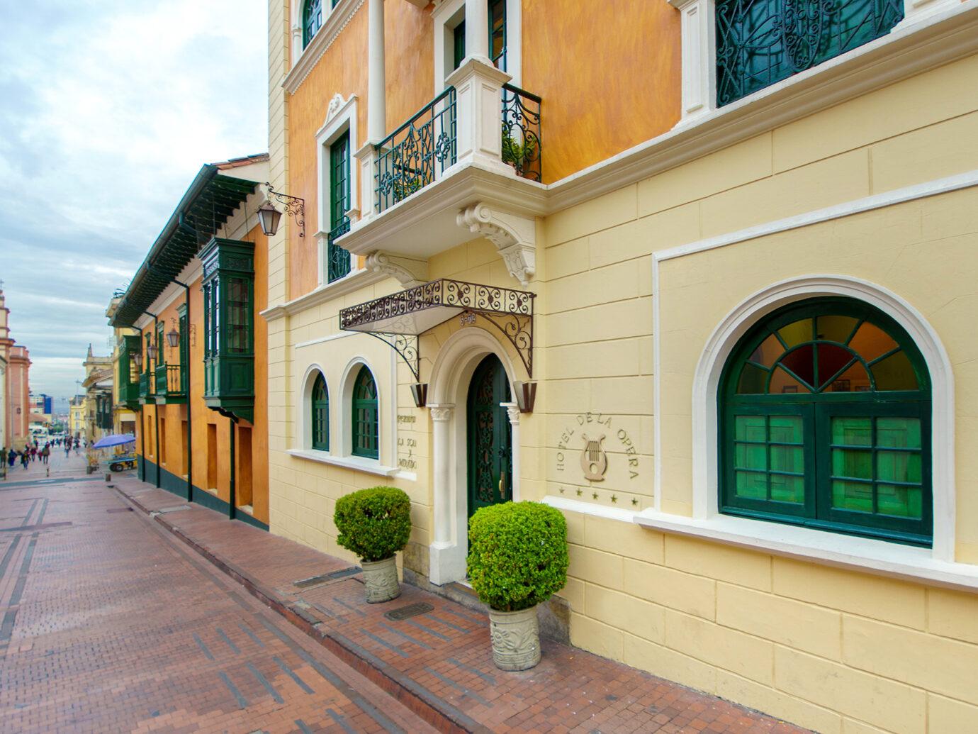 Exterior of Hotel Opera in Bogota Colombia