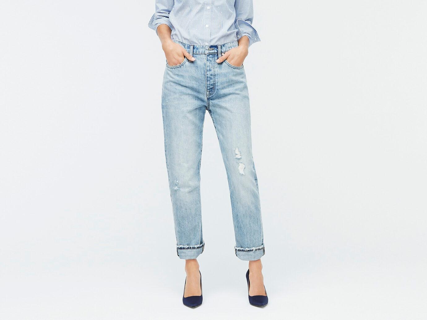 J.Crew Women's Point Sur Slouchy Boyfriend Jeans