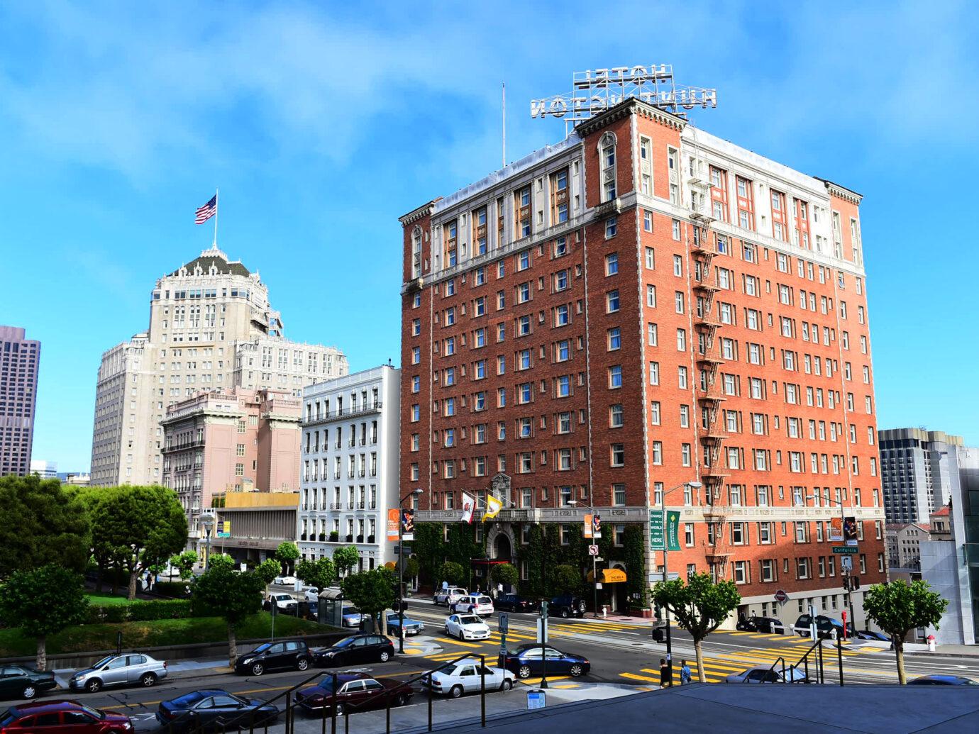 Exterior of The Huntington Hotel, San Francisco, CA