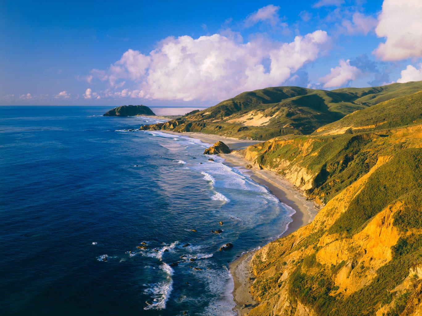 View of the Big Sur coastline