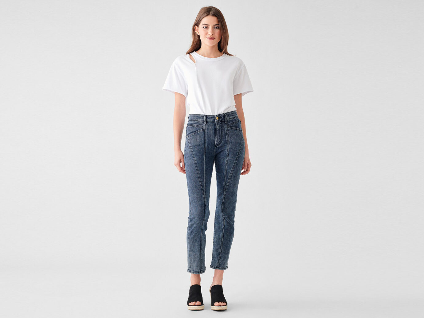 DL1961 Women's Mara Ankle High Rise Straight Jeans