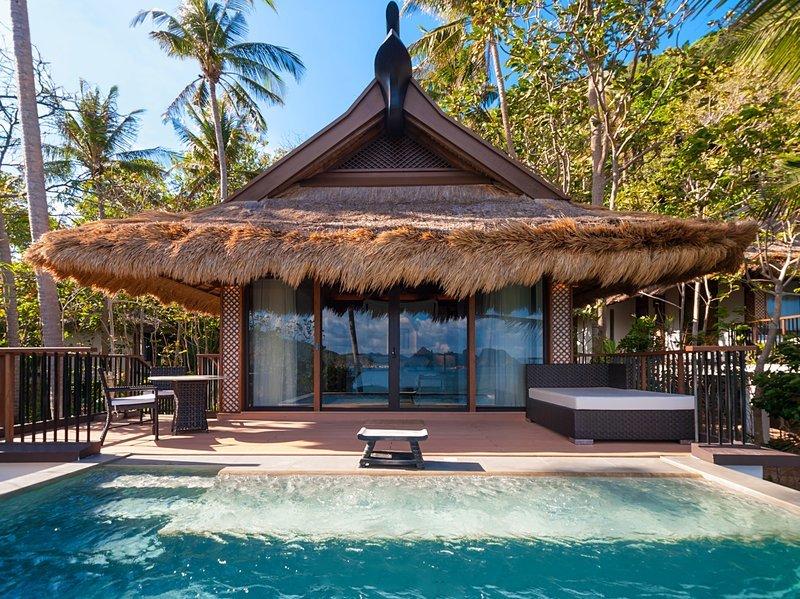 Private pool at Pangulasian Island, Philippines