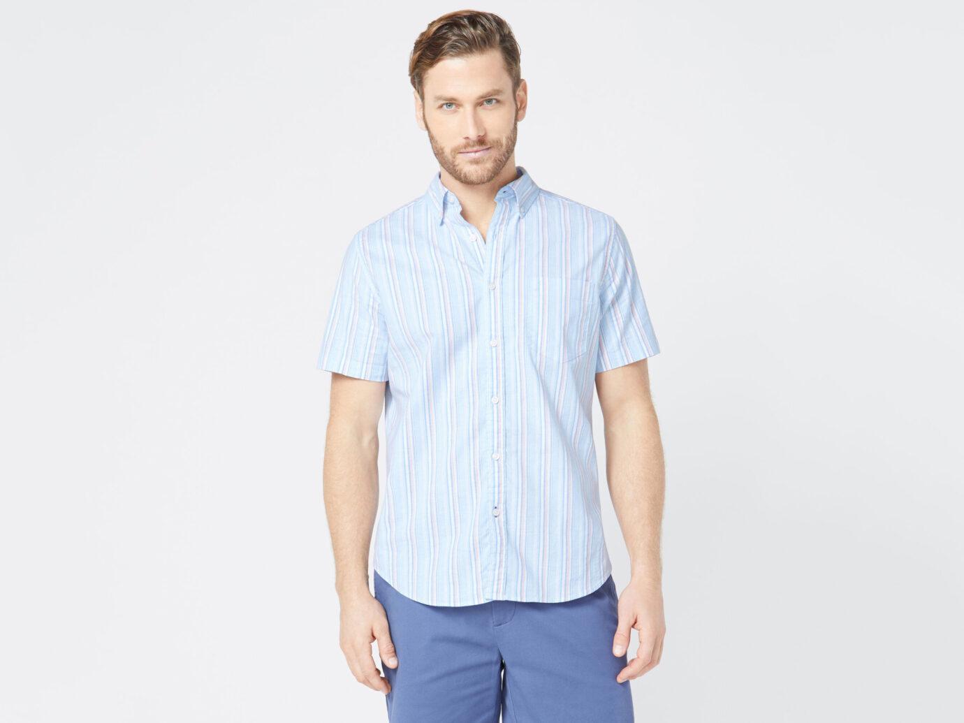 Nautica Men's Classic Fit Striped Oxford Shirt
