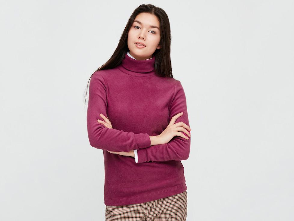 Women's Heattech Fleece Turtleneck