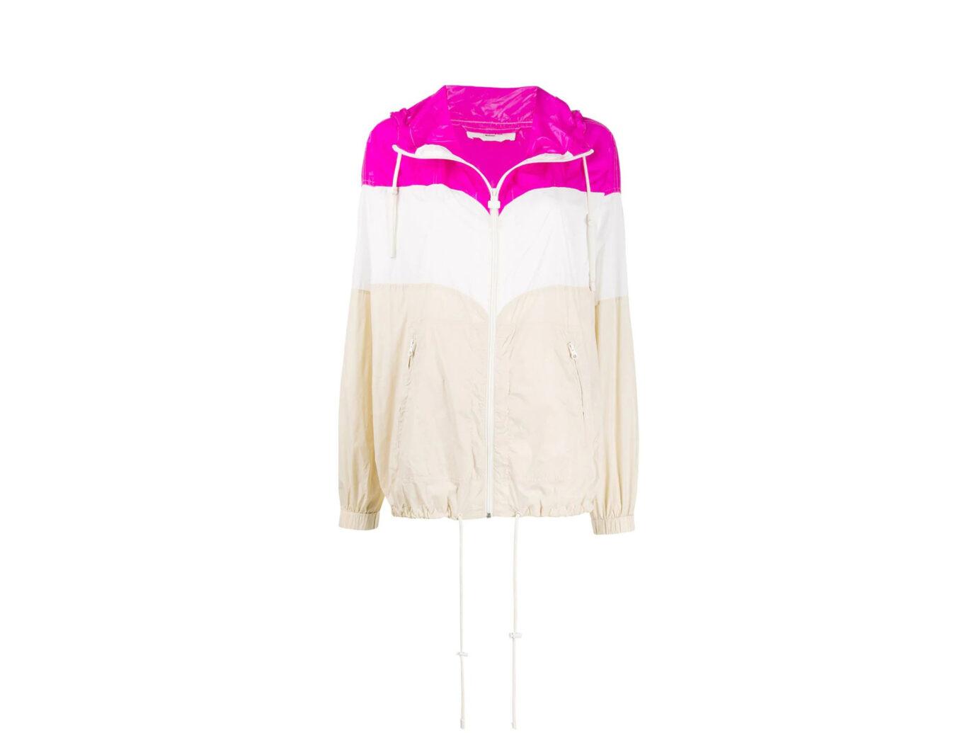 Isabel Marant Étoile Colour Blocked Rain Jacket
