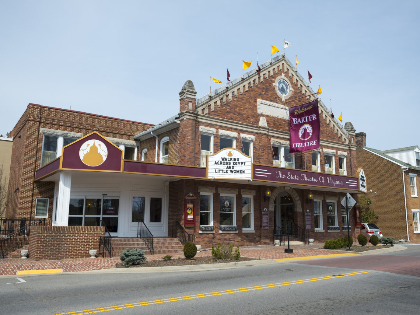 """Barter Theatre, which opened in 1933, is one of the longest running professional theaters in the United States. On this particular day it was performing """"Walking Across Egypt"""" and """"Little Women"""""""