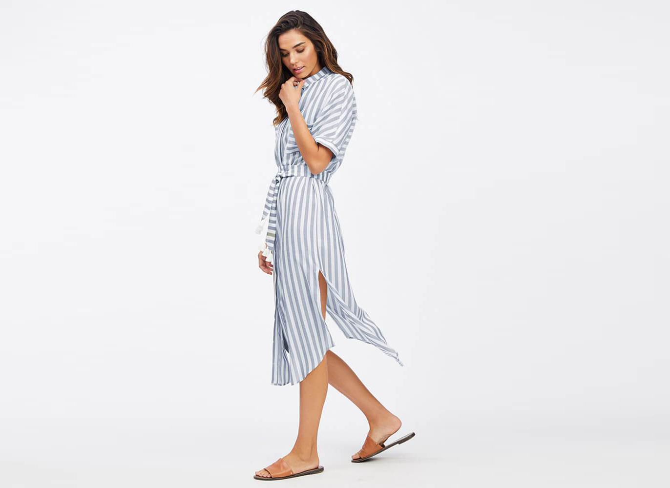 Socialite Hampton Collar Shirt Dress