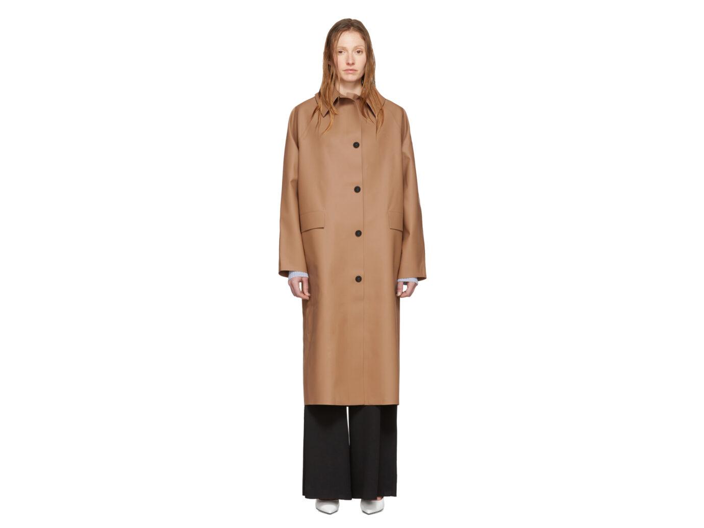 Kassl Editions Tan Rubber Coat