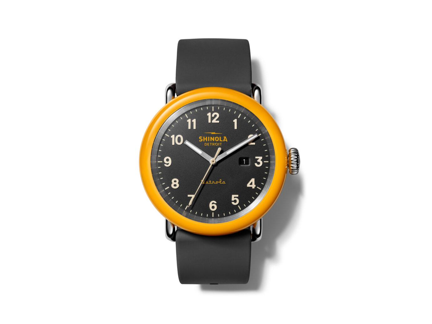 Shinola Detrola Silicone Strap Watch, 43mm