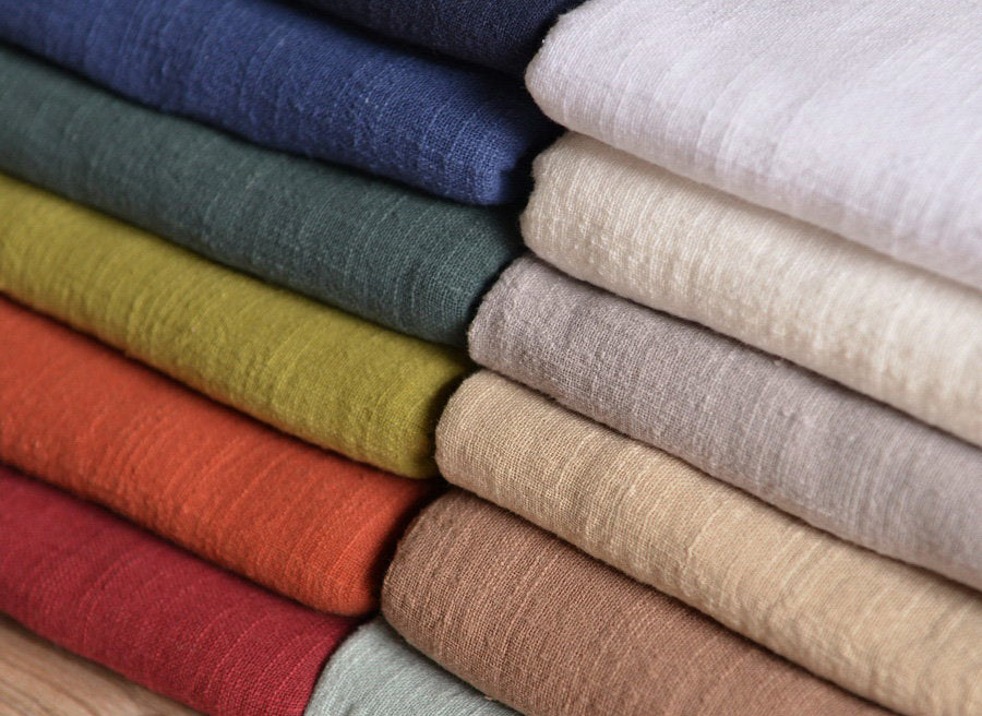 Solid Linen Yarn Fabric