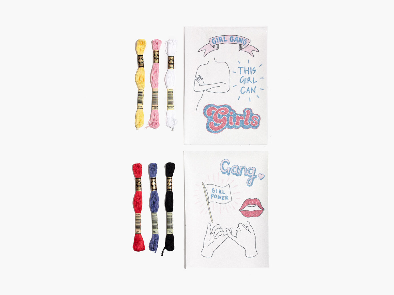 Wool & The Gang Girl Embroidery Kit