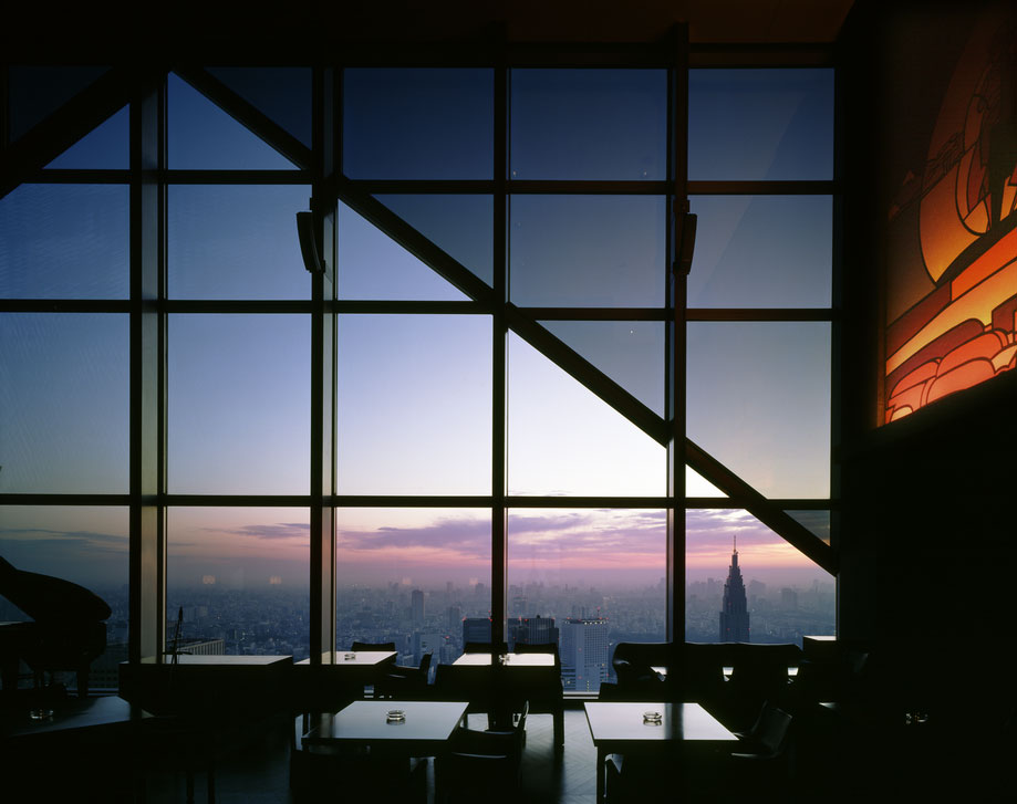 View from the New York Bar at the top of the Park Hyatt Tokyo, the bar from Lost in Translation