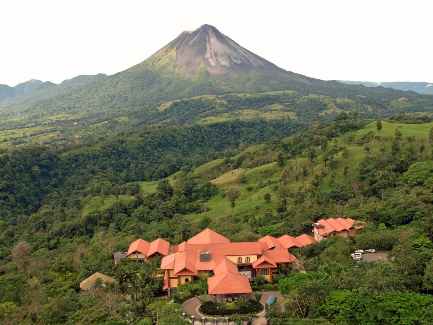 Ariel view of the Springs hotel in Costa Rica