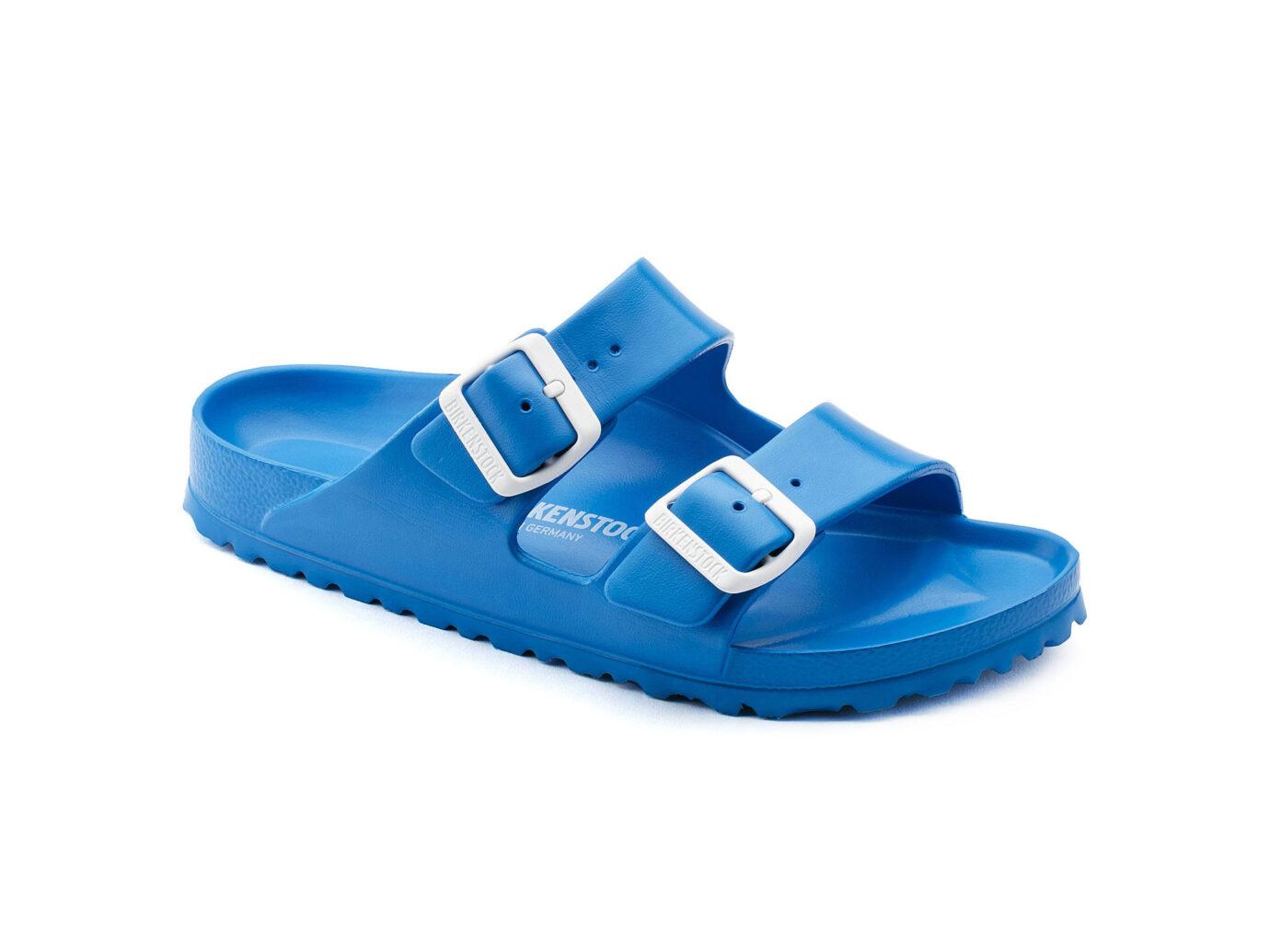 birkenstock slides blue