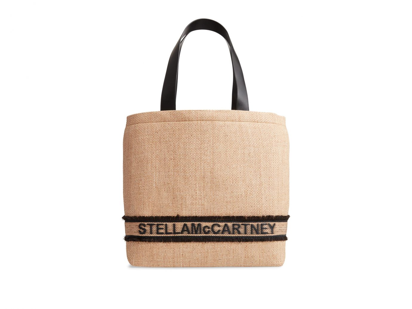 Stella McCartney Monogram Woven Raffia Tote