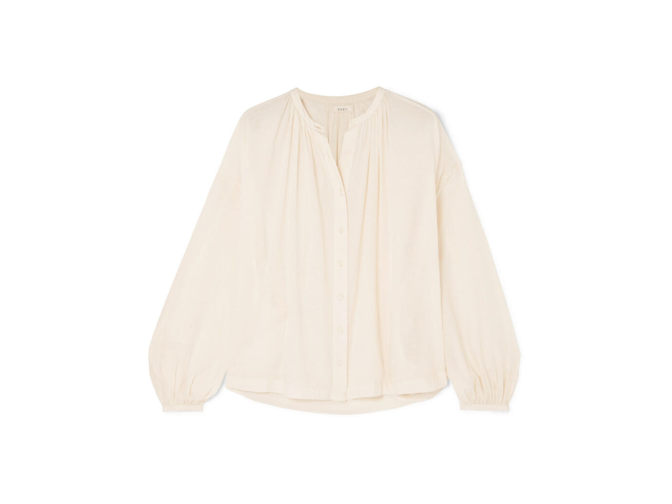 Doen The Jane gathered cotton-blend voile blouse