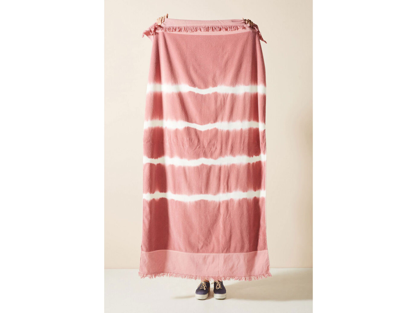 Anthropoligie Stripe-Dyed Beach Towel