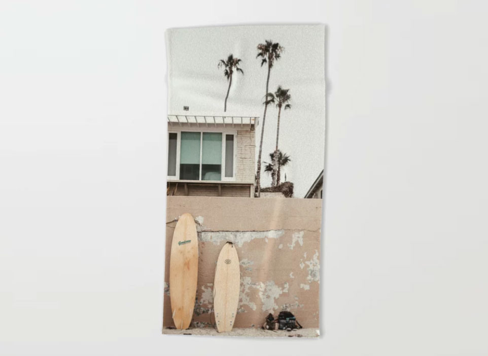 San Diego Surfing Beach Towel