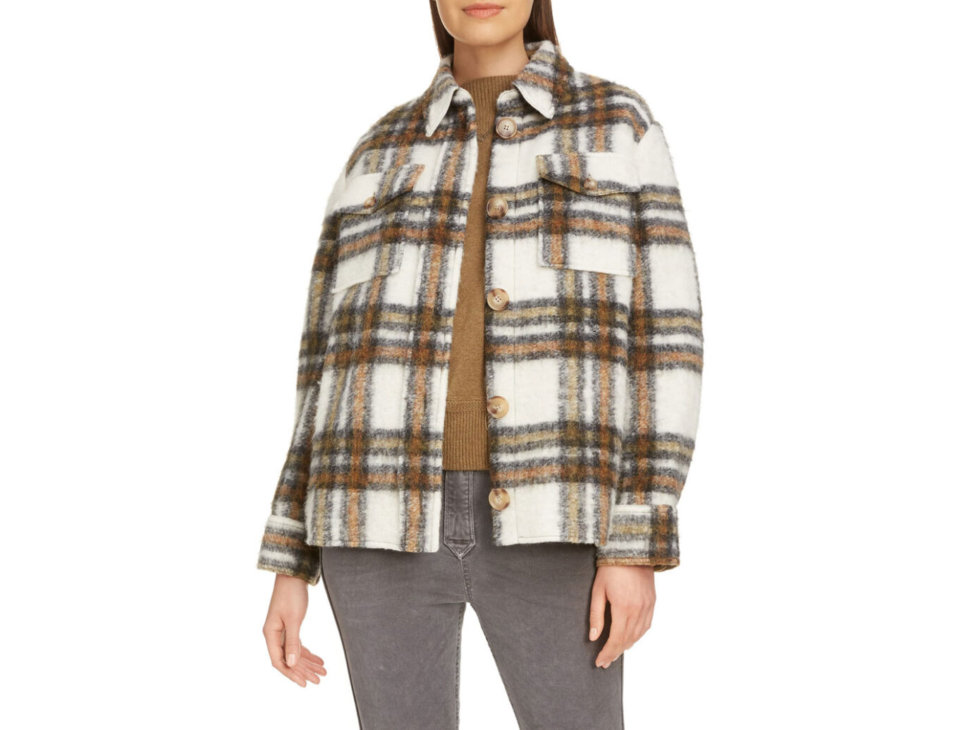 Isabel Marant Étoile Plaid Shirt Jacket