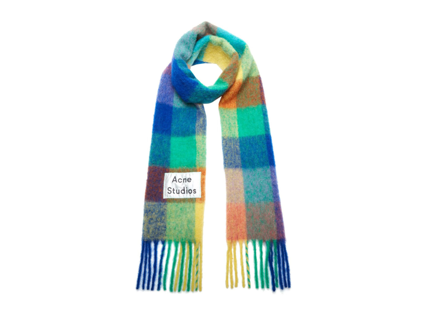 Acne Studios Valley Checkered Wool-Blend Scarf