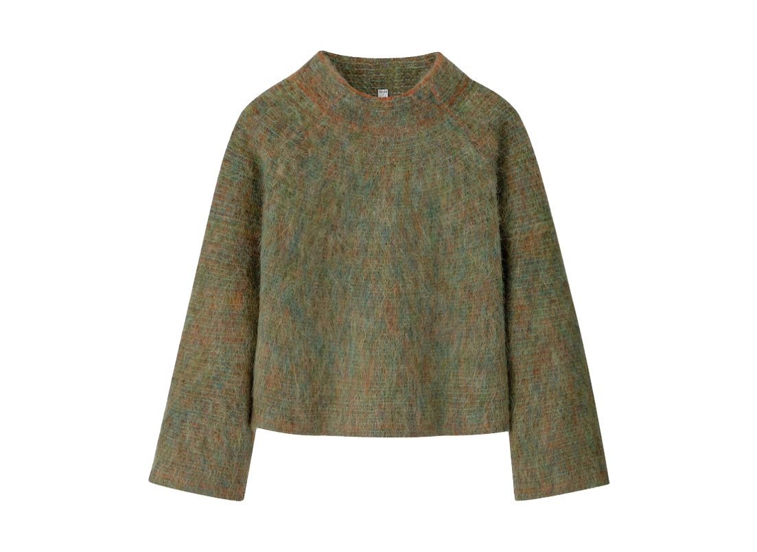 Uniqlo U Shaggy Wide-Sleeve Sweater, Frisson knits look alike sweater