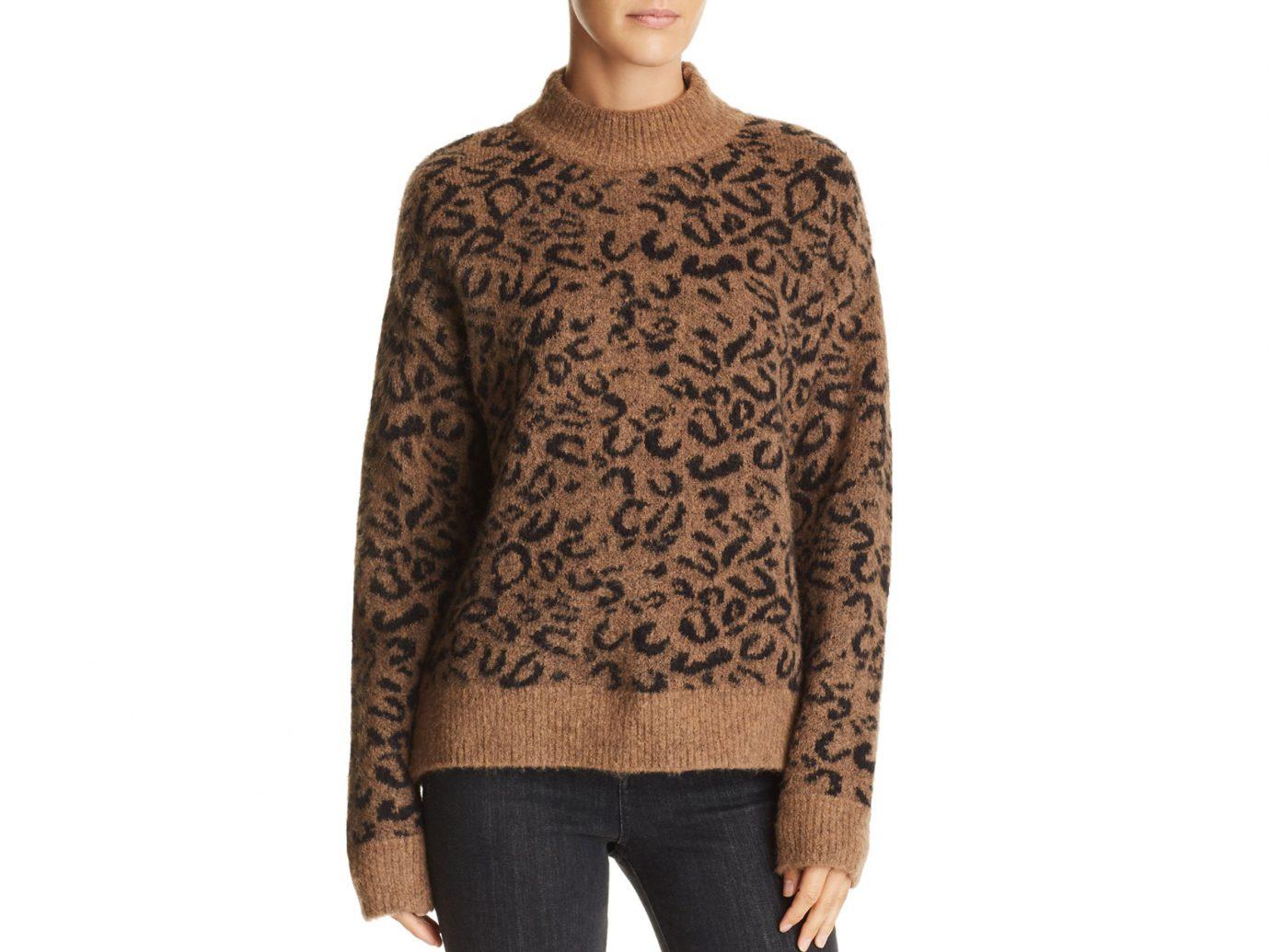 John and Jenn Xavier Leopard-Print Sweater