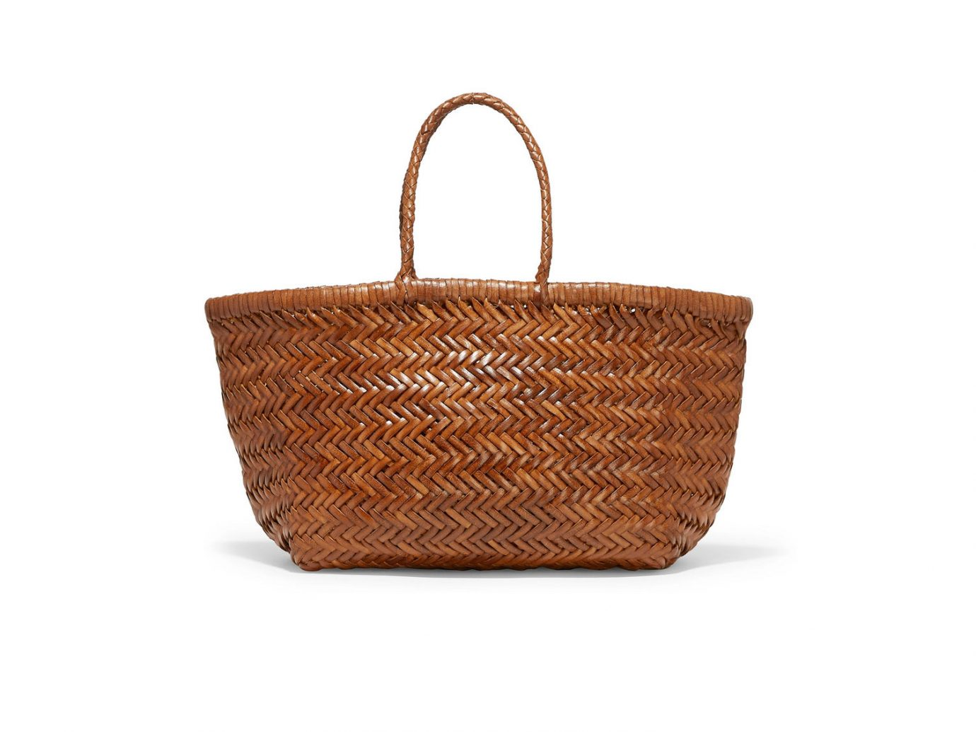 Dragon Diffusion Bamboo Triple Jump woven leather tote