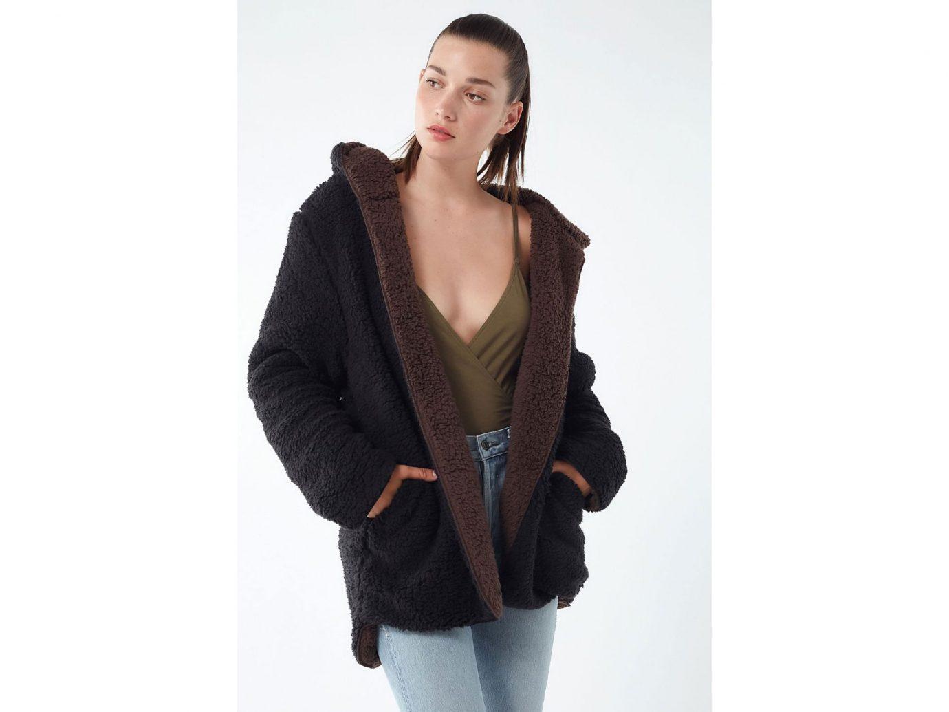 UO UO Carmella Cozy Reversible Teddy Coat
