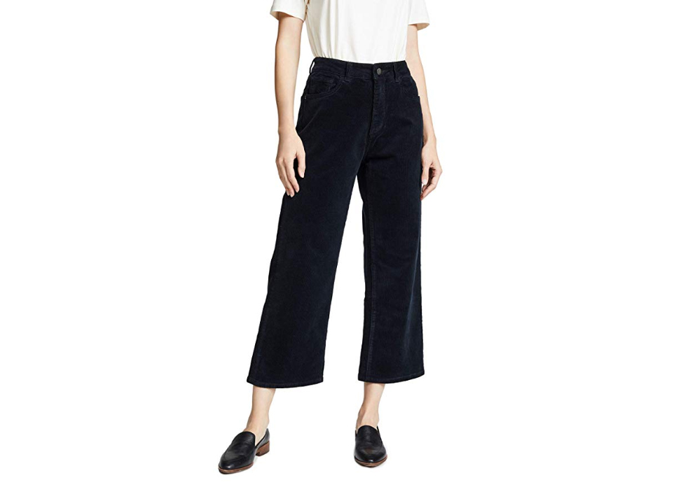 DL1961 Women's Hepburn High Rise Corduroy Wide Leg Pants