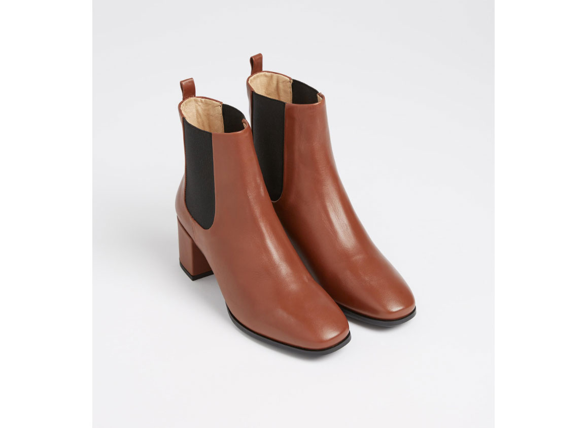 Frank and Oak The Belvedere Leather Ankle Boot in Brown