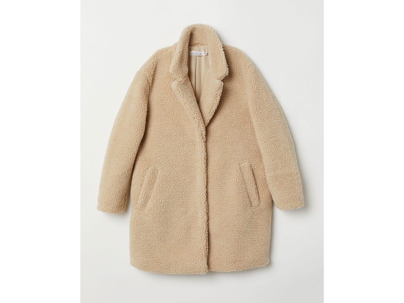 H&M fuzzy shearling Coat