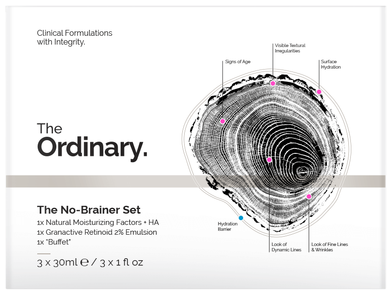The Ordinary. no-brainer setThe Ordinary. no-brainer set