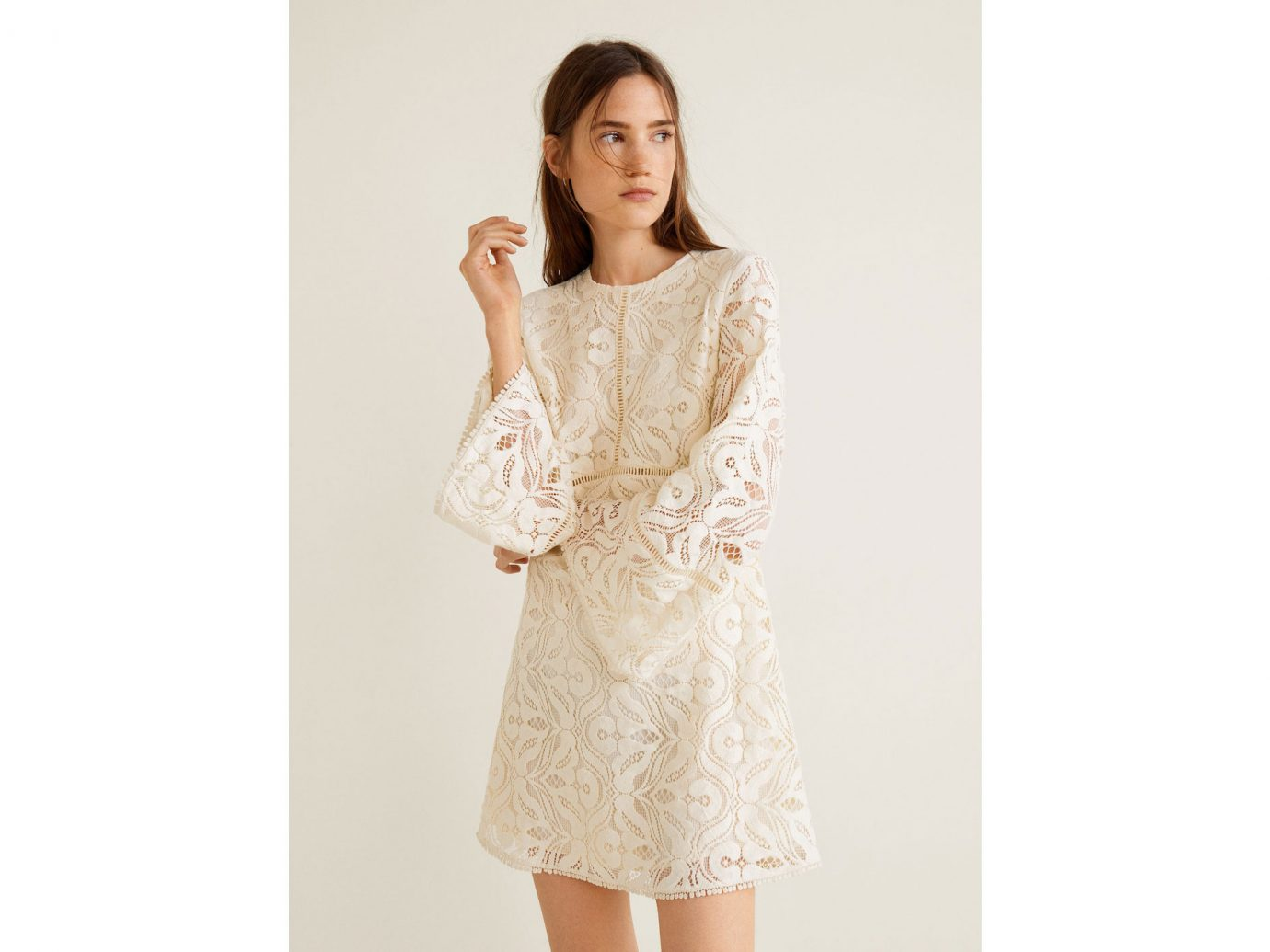 Mango Lace panel dress
