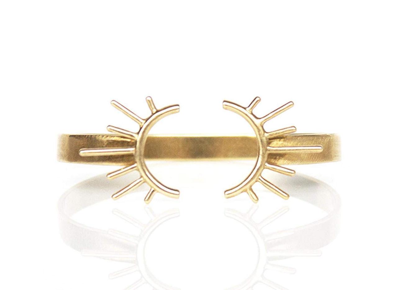 Burst Brass Cuff Bracelet
