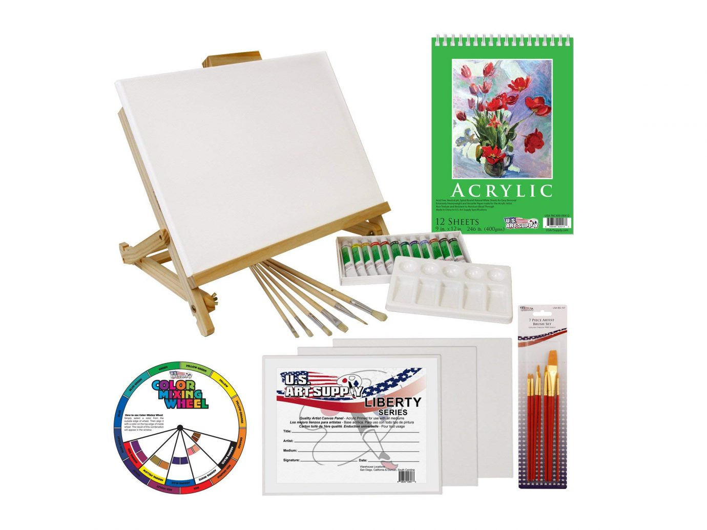 33 Piece Custom Artist Acrylic Painting Set