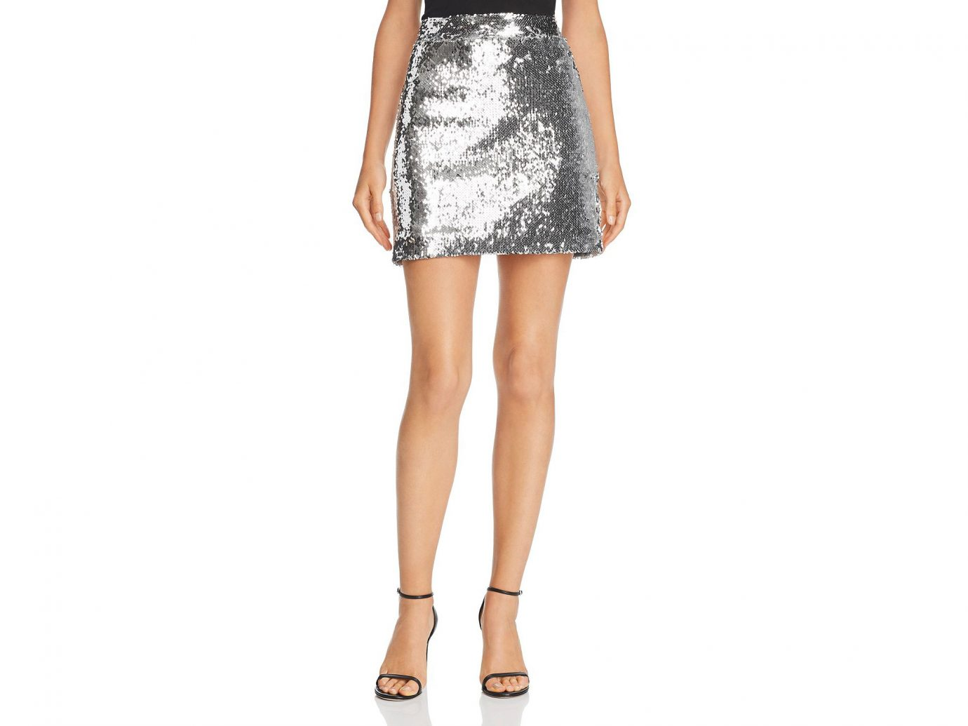 MILLY Women's Sequin Modern Mini Skirt