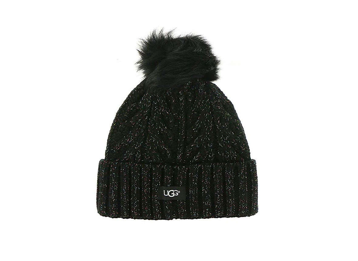 UGG Cable Knit Pom Beanie