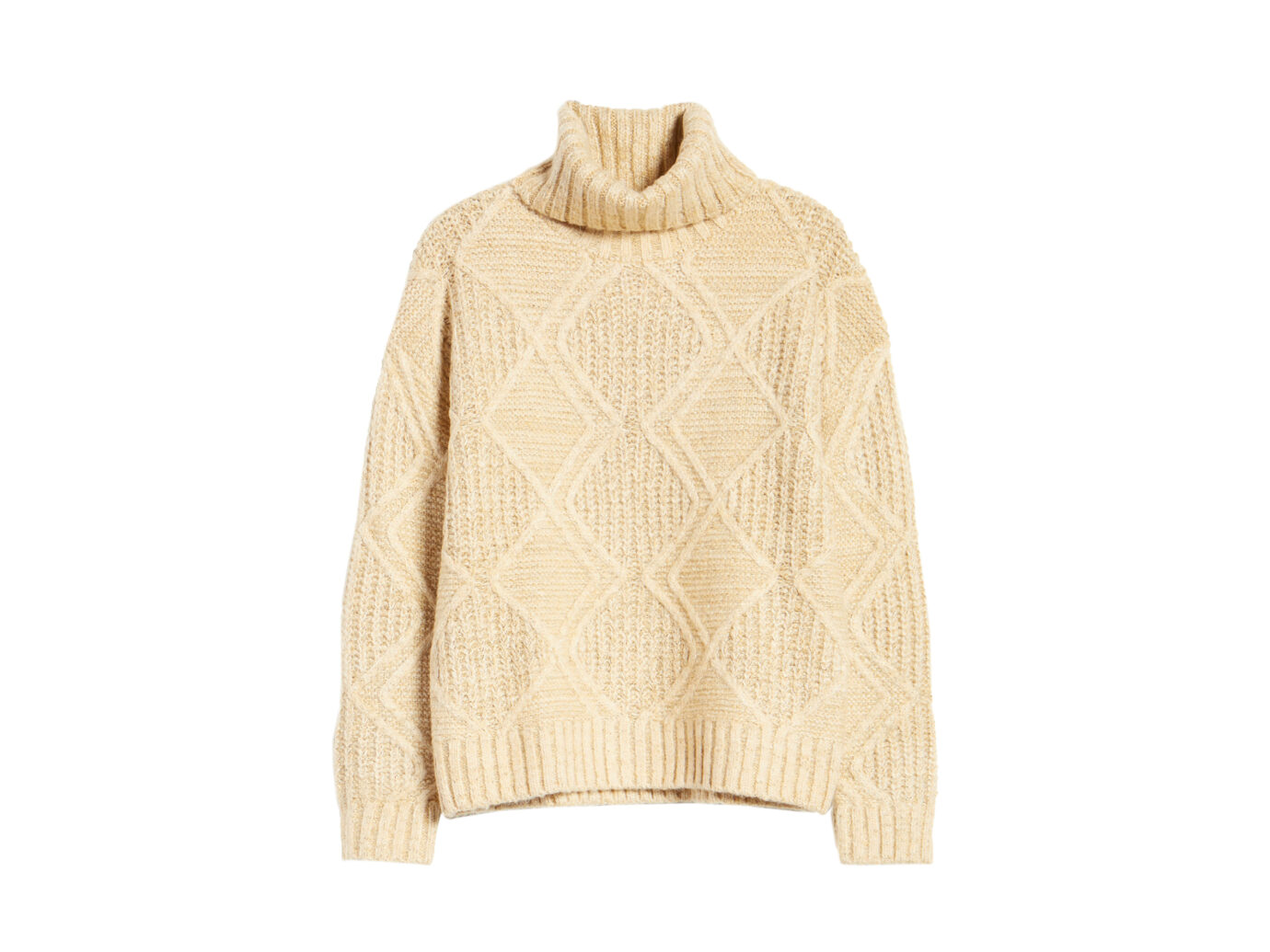 Calson Chunky Cable Knit Turtleneck Sweater