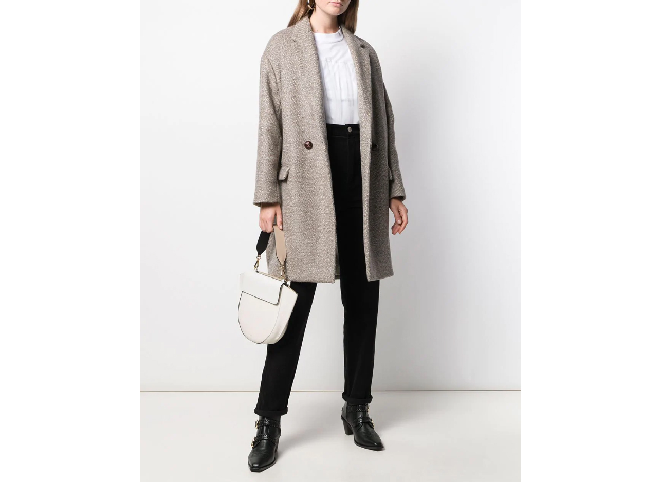Isabel Marant Filipo Wool Blend Coat