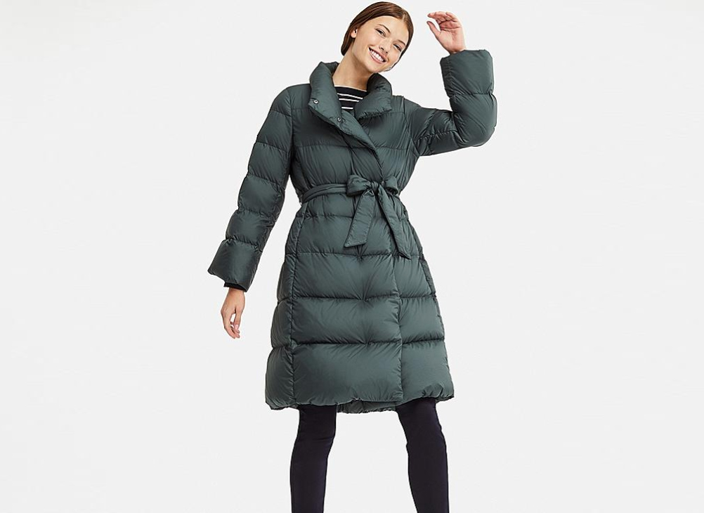 Uniqlo Women Lightweight Down Stand Collar Coat